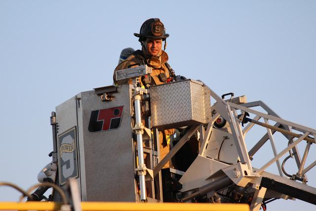 FF/EMT Peter Marshall In The Bucket.