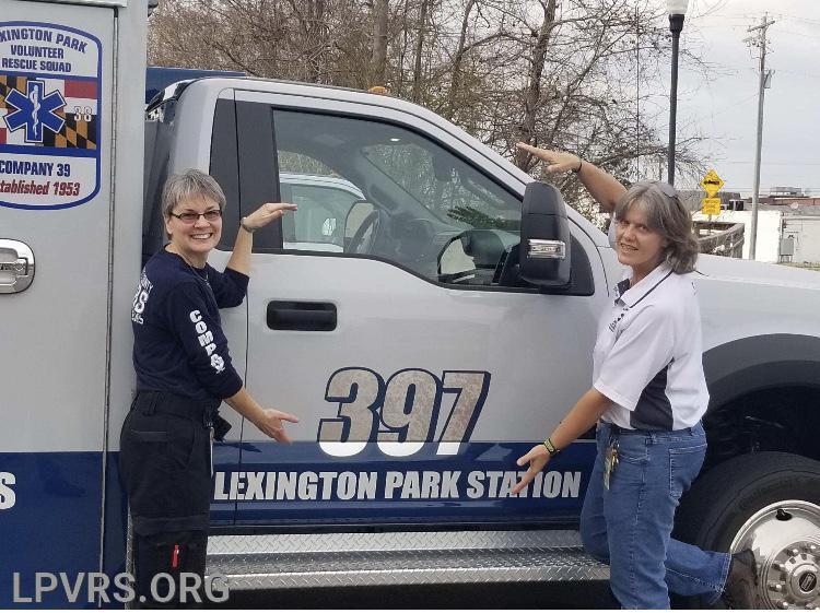Terri Van Aslen and Lori Marsh Co Chairs Ambulance Committee